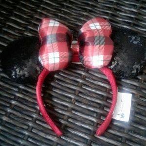 NWT Disney minnie mouse sequin ears